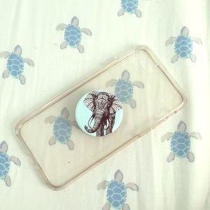 Used iPhone 6/6s case ivoryella popsocket